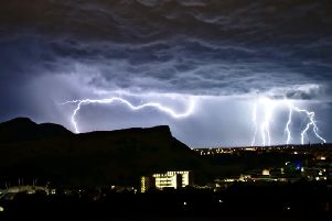 Thunder and lightning in Edinburgh last week. Picture: SWNS