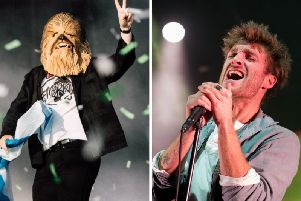 Paolo Nutini has bought the Chewbacca mask worn by Lewis Capaldi on stage at TRNSMT festival.