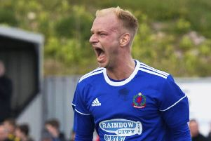 Jordon Brown was among the goalscorers for Cove. Pic: SNS