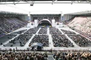 A bumper crowd welcomed the LA Phil to the Edinburgh Festival at Tynecastle