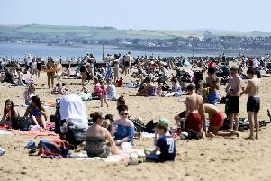 Portobello Beach is always packed on a sunny, summer day - but where do people put their litter? (Picture: Lisa Ferguson)