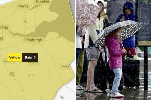 Heavy rain is forecast for much of Sunday.