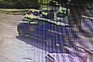 CCTV footage shows the blue Ford Ranger towing the boat