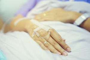 A patient waits to undergo surgery