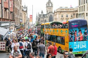 The number of overseas visitor in Edinburrgh has increased by 50 per cent in the last six years. Picture: Ian Georgeson