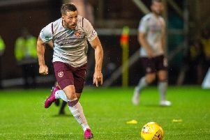 Hearts striker Conor Washington in action during Friday night's win.