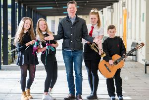 Director Fergus Linehan launches the International Festival's partnership with Castlebrae High in 2015. The Festival has now forged a similar partnership with Leith Academy. Picture: Ian Georgeson