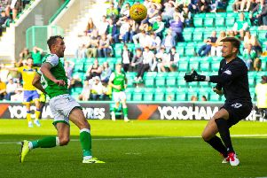Christian Doidge scored to clinch the win ' and ease the tension at Easter Road