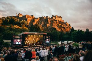 The Summer Sessions in Princes Street Gardens.