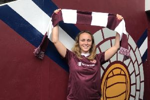 Maddy Brill-Edwards is unveiled as Hearts Women's new signing