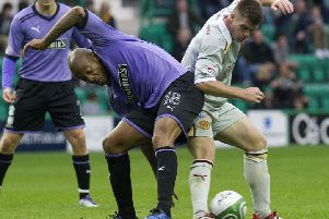 Junior Agogo was brought to Hibs by Colin Calderwood in 2011