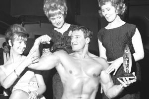 Norman Rough when he won the Mr Edinburgh physique contest at Palais De Danse, Edinburgh, in 1966. Picture: TSPL