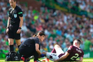 Michael Smith became the latest Hearts player to go off injured during a match.