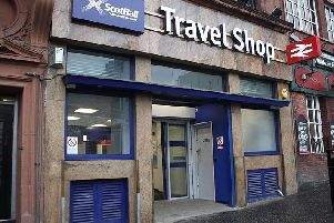 Unions said the travel shop at Glasgow Queen Street is among those facing cuts. Picture: Creative Commons/Geof Sheppard