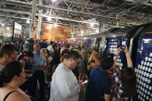 Borders Railway passengers were among those caught in the major disruption. Picture: Ross Ryrie