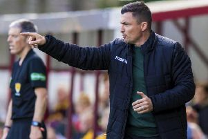 Paul Heckingbottom shouts orders during the defeat by Motherwell