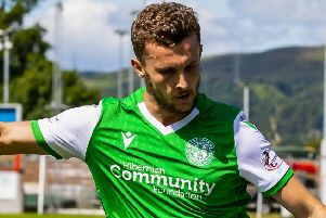 Tom James has played four competitive matches for Hibs