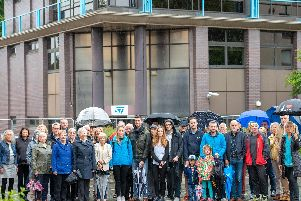 Residents campaign against previous Pinkhill development plans. Pic Ian Georgeson.