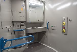 Disabled toilet in new Caledonian Sleeper train. Picture: John Devlin