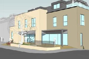 Approved proposals for flats and shops at Craiglockhart