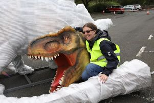 Lost Worlds will feature titanic creations like a T-Rex and a 65-foot snake. Picture: Sin Addison/ RZSS