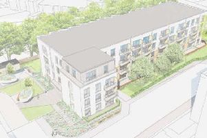 A block of flats will be built at the former office site at Pinkhill