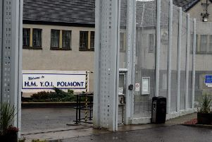 Emergency crews were called to a young offenders institution in Polmont last night amidst reports of a blaze in a cell. Picture: PA