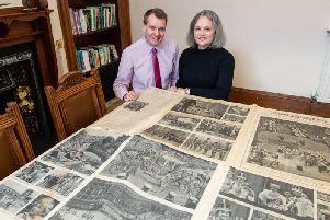 Ben Jones and Liesbeth Tip who found a old copy of The Scotsman under there flooring as well as murals left on the walls by previous builders