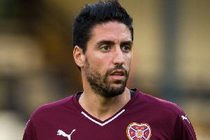 Former Hearts midfielder Miguel Pallardo has appeared in court in Spain