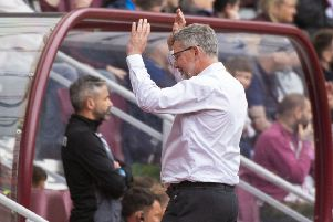 Hearts manager Craig Levein shows his frustration during the 3-2 defeat by Motherwell. Pic: SNS