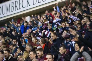 Hearts are on the verge of selling out the away end for the Edinburgh derby. Picture: SNS