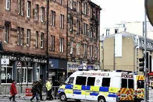 The aftermath to the explosion in Fountainbridge.