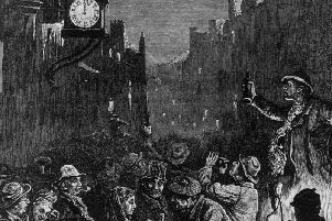Hogmanay celebrations in the Capital in 1876.
