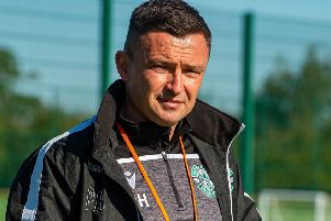 Hibernian manager Paul Heckingbottom laid out his derby plans at HTC