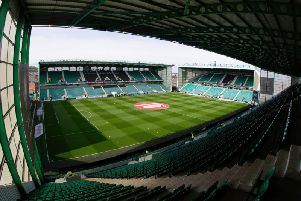 All the latest from the Edinburgh derby at Easter Road. Picture: SNS