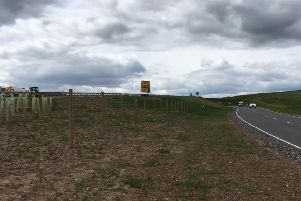 Cllr Richard Thomson has raised concerns over the lack of safety barrier on this stretch of the new A90