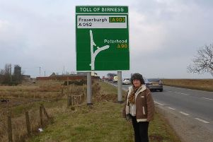 Councillor Gillian Owen at the Toll of Birness