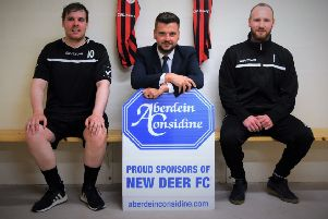 Local side New Deer FC receive new gear courtesy of Aberdein Considine