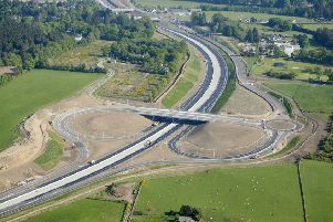 The completed sections will open early on Wednesday morning. Picture: Transport Scotland