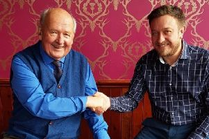 Jack Nixon is pictured with Tolbooth owner Martin Smith