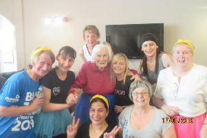 Culsh House staff and residents during Well Being Week