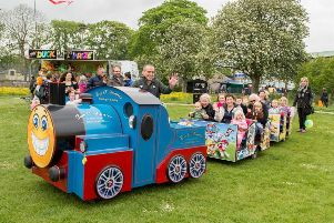 The mini train was very popular with visitors of all ages
