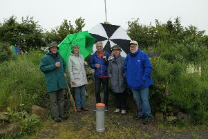 Members of Meldrum and Bourtie Heritage Society with the time capsule