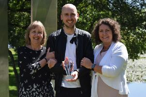 Dale McEwan was given a graduate of the year award.