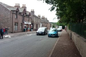 Aberdeenshire Council says the footway build-out to reduce the width of Main Street to 6m would act as an uncontrolled pedestrian crossing point
