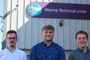 Pictured are Fergus McConnell, Jamie Fuery, Patrick Reid