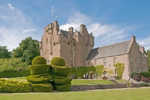 Crathes Castle was targeted on August 20.
