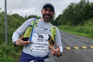 Mark's running for a very worthy cause.