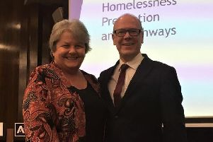 Aberdeenshire councillor Anne Stirling and Kevin Stewart MSP, Minister for Local Government, Housing and Planning