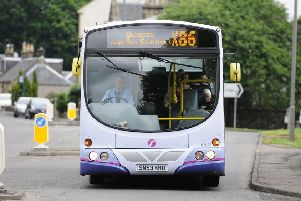 The X86 bus through the district was one of the routes its operator cut this year. Picture: Michael Gillen